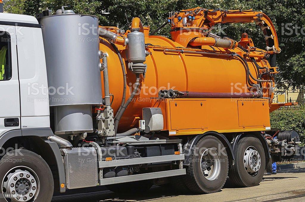 sewage truck royalty-free stock photo