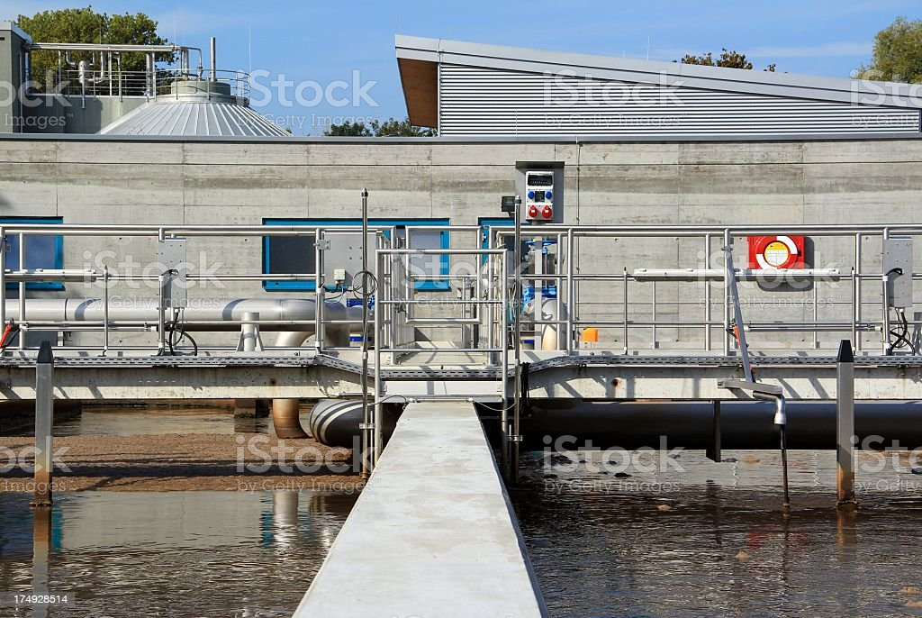 Sewage water treatment royalty-free stock photo