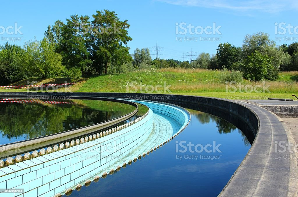Sewage water treatment stock photo