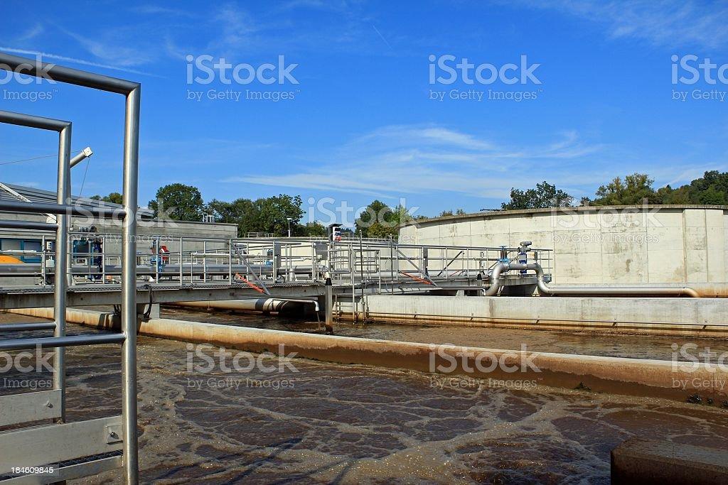 Sewage water treatment stock photo