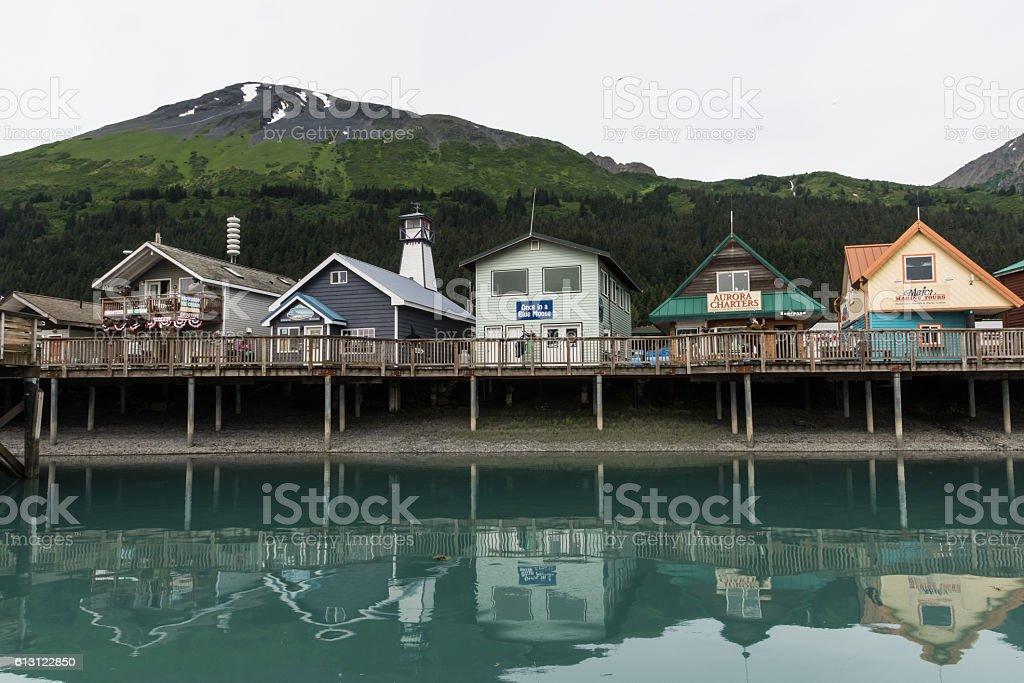 Seward Alaska stock photo