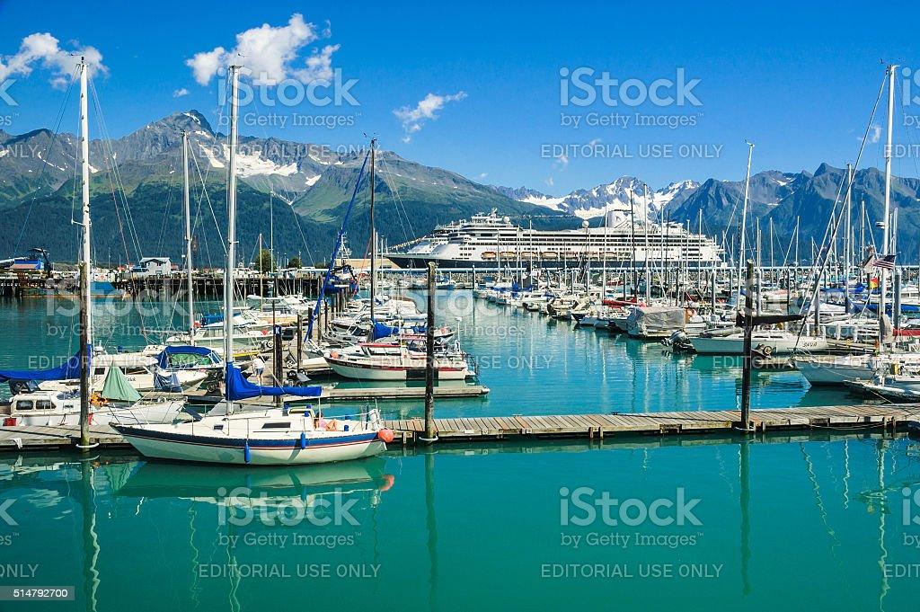 Seward Boat Harbor stock photo