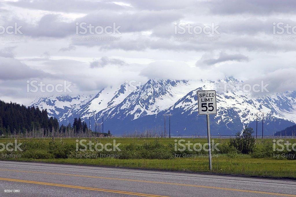 Seward Highway near Anchorage stock photo
