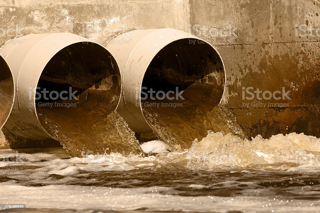 Sewer drains stock photo