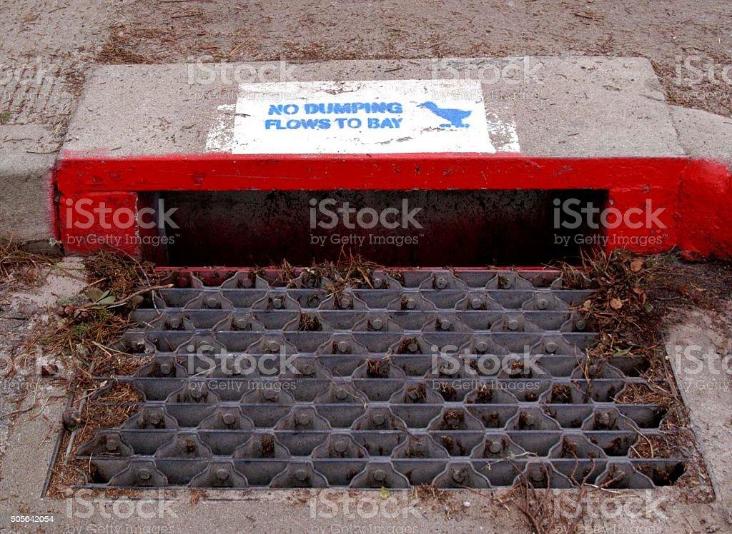 sewer in Carmel, CA stock photo