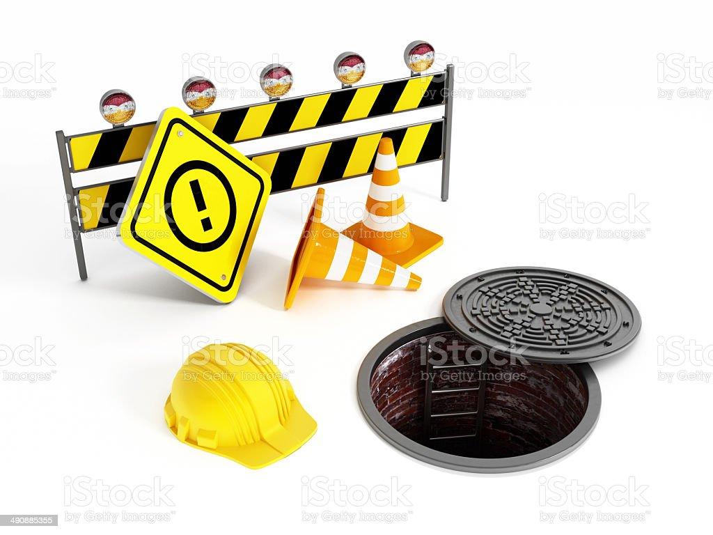 Sewer maintenance stock photo