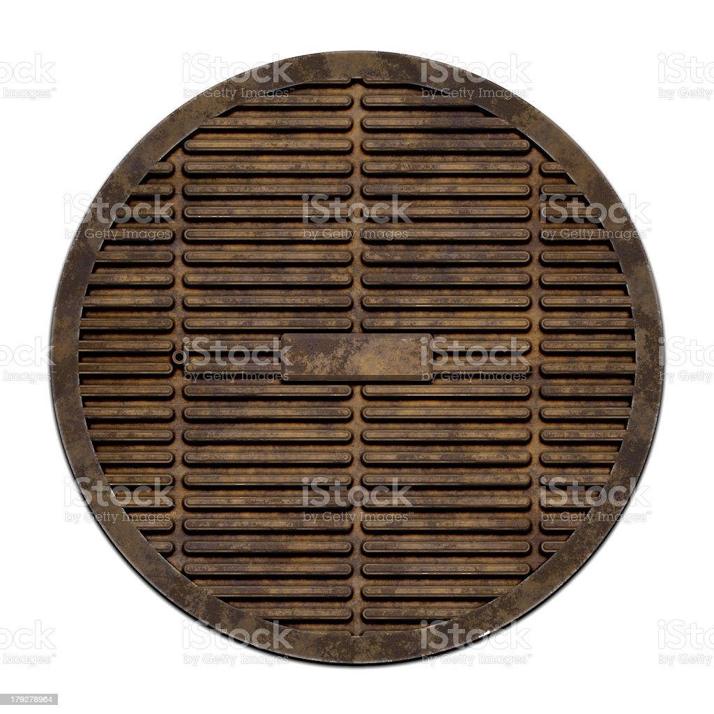 Sewer metal cover (Manhole serie) royalty-free stock photo