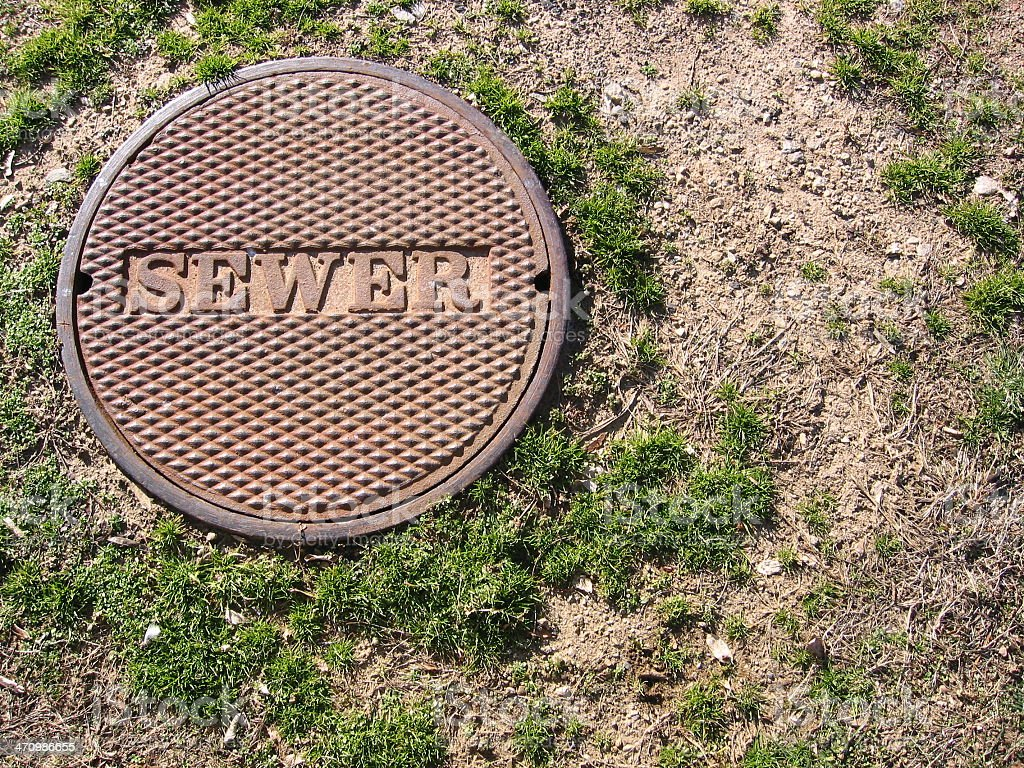 Sewer royalty-free stock photo