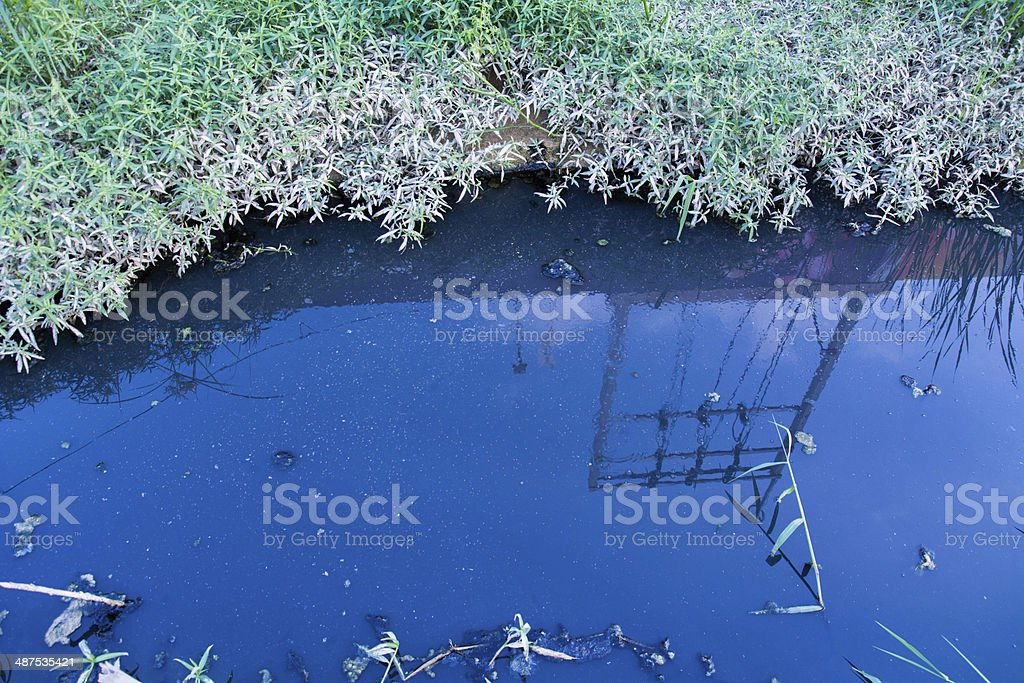 sewer sludge and wastewater need to be treatment stock photo