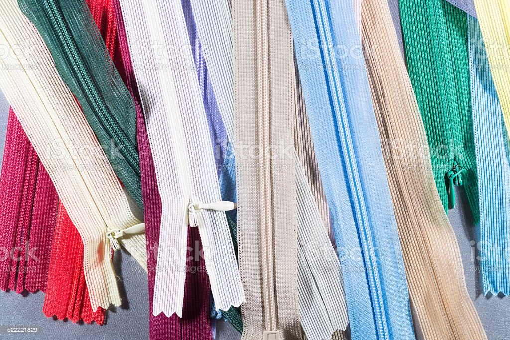 sewing accessories on the background stock photo