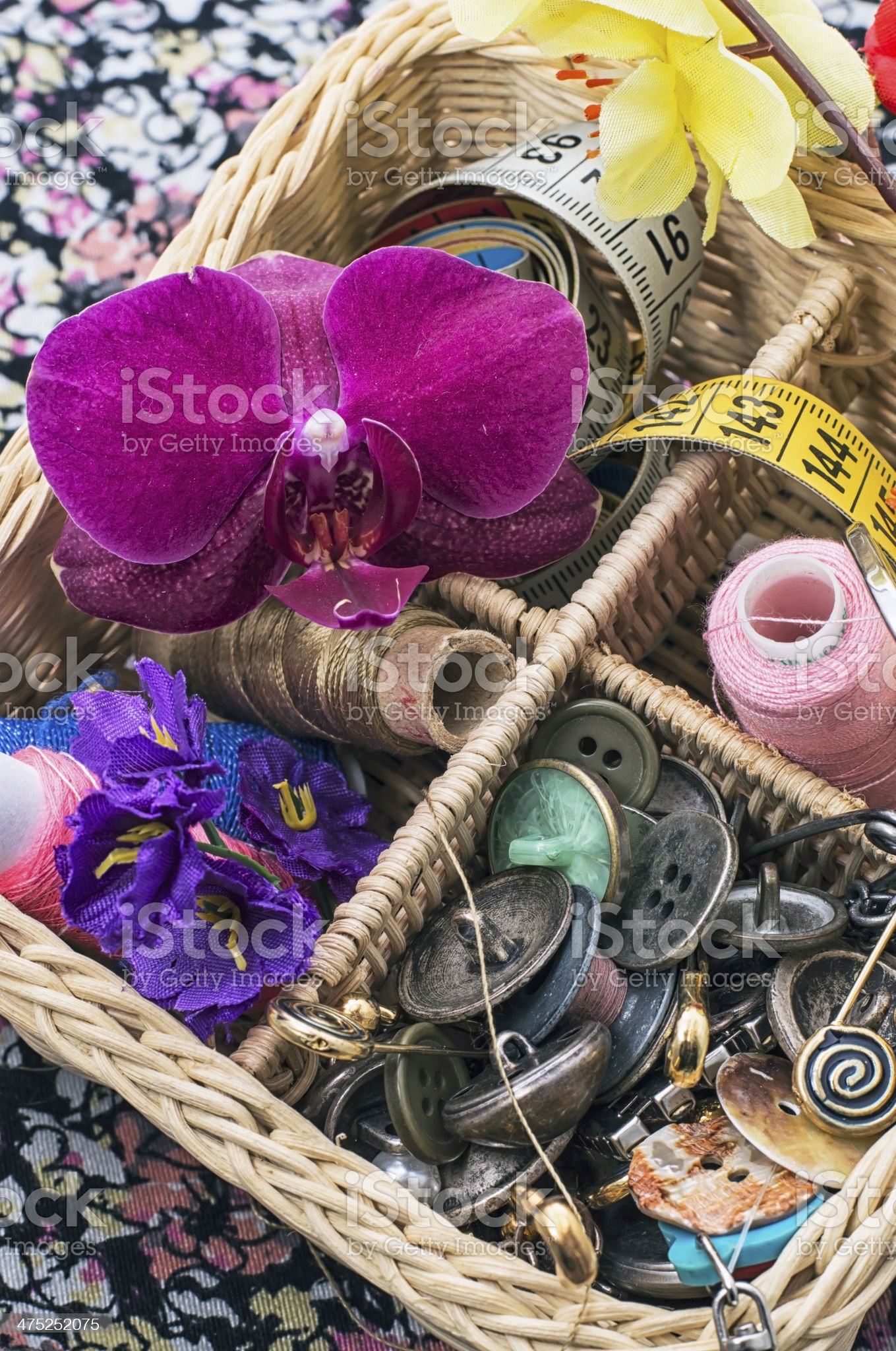 sewing accessories royalty-free stock photo