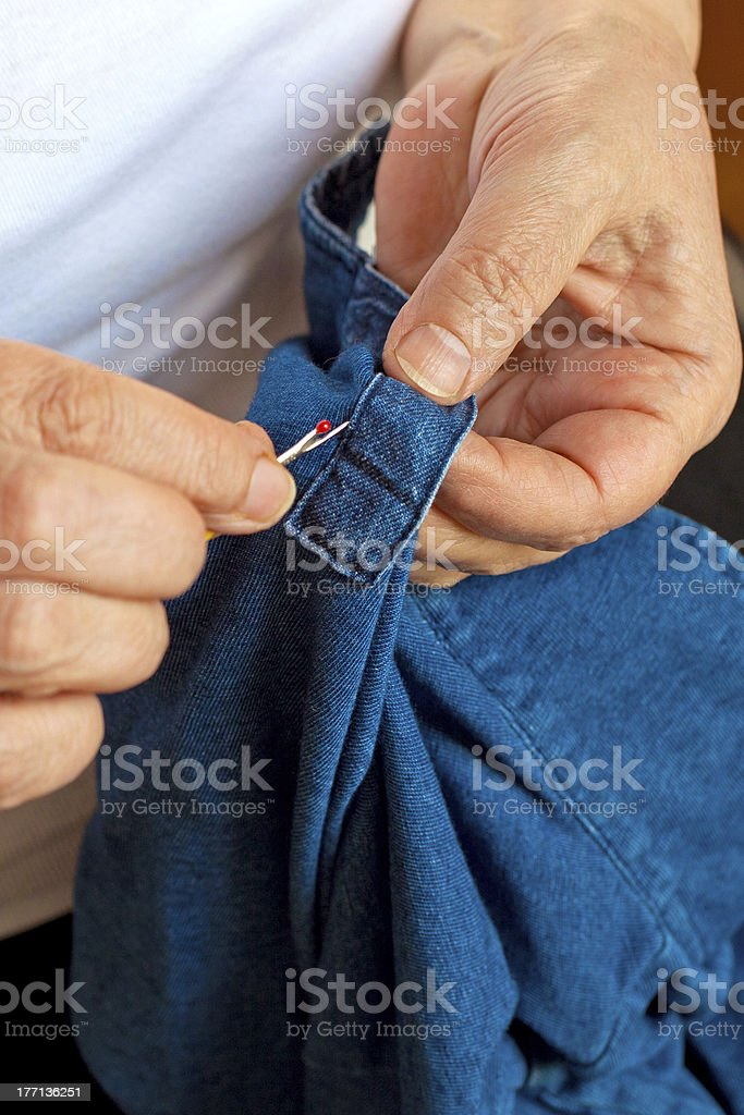 Sewing as a hobby royalty-free stock photo