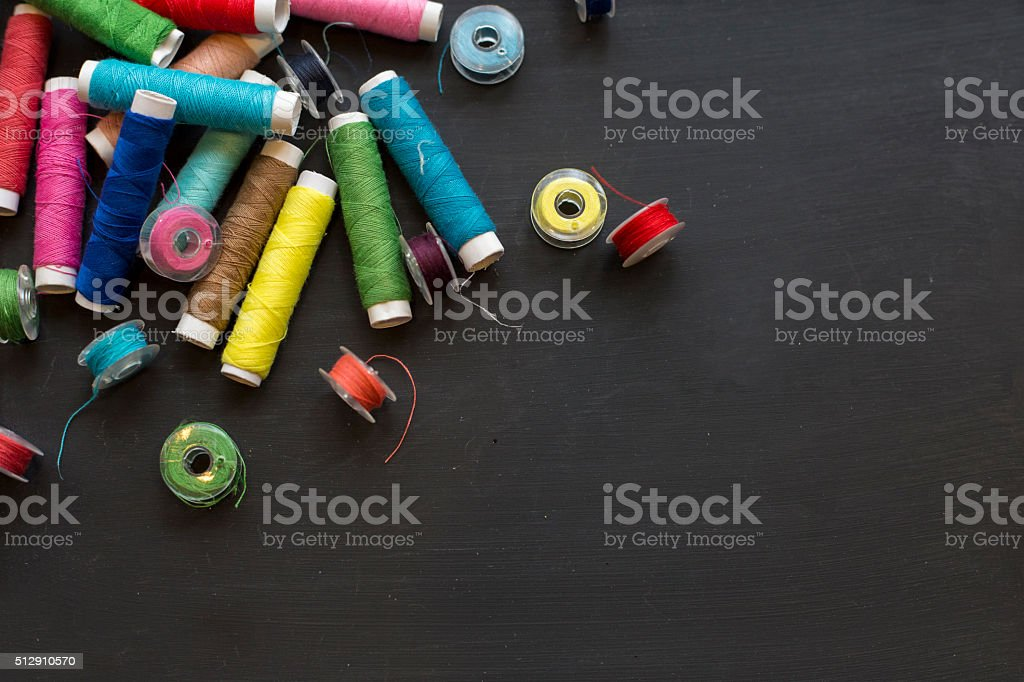 Sewing background stock photo