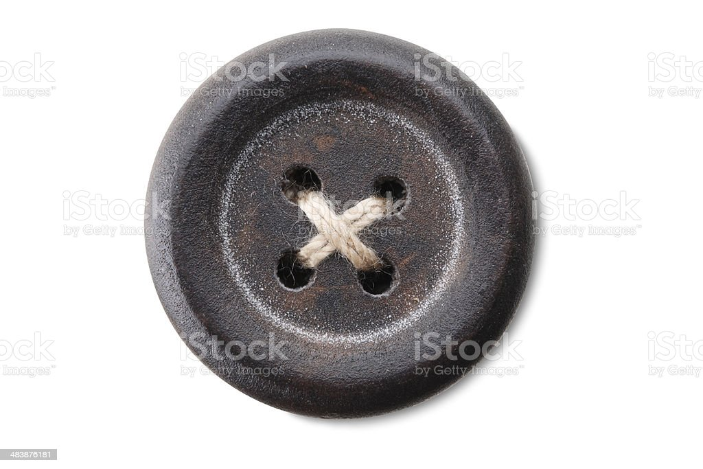 Sewing button stock photo
