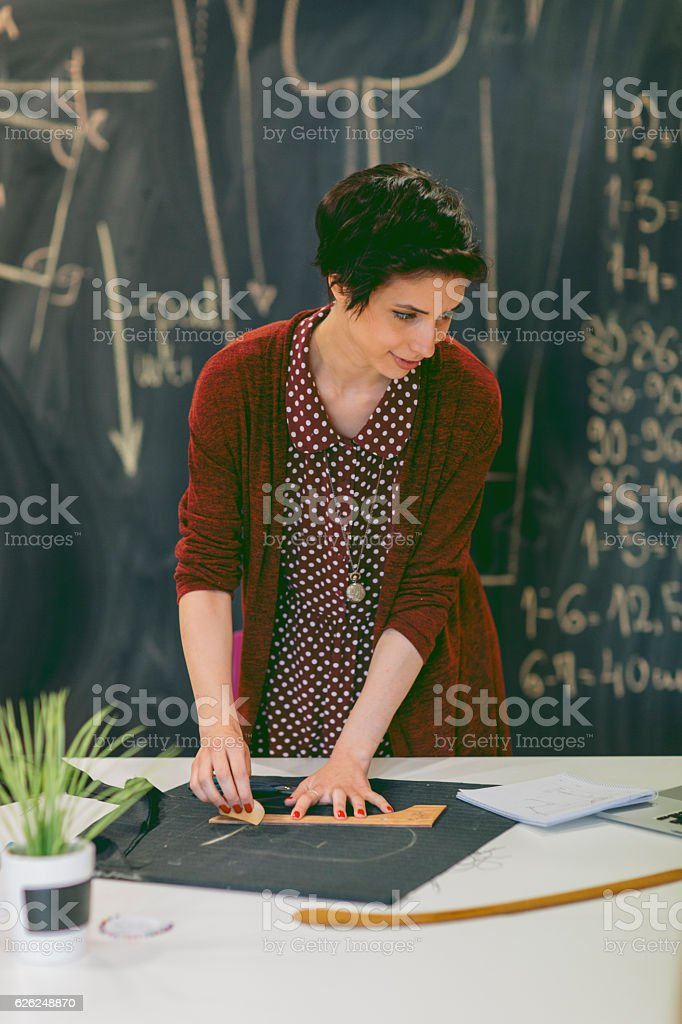 Sewing class. stock photo