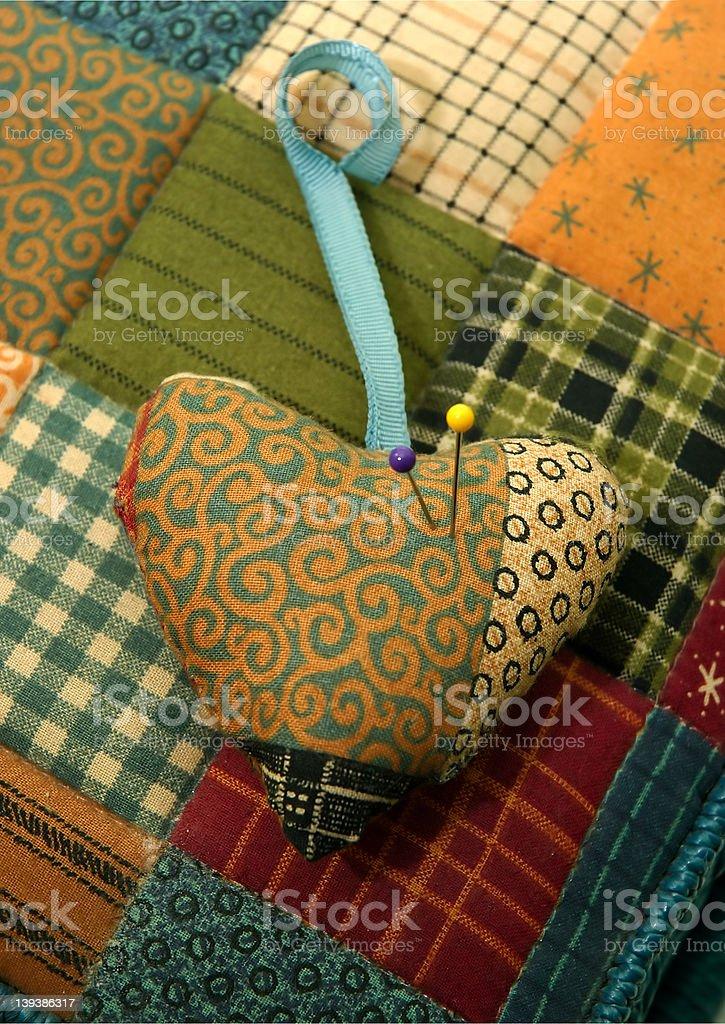 Sewing Cushion royalty-free stock photo