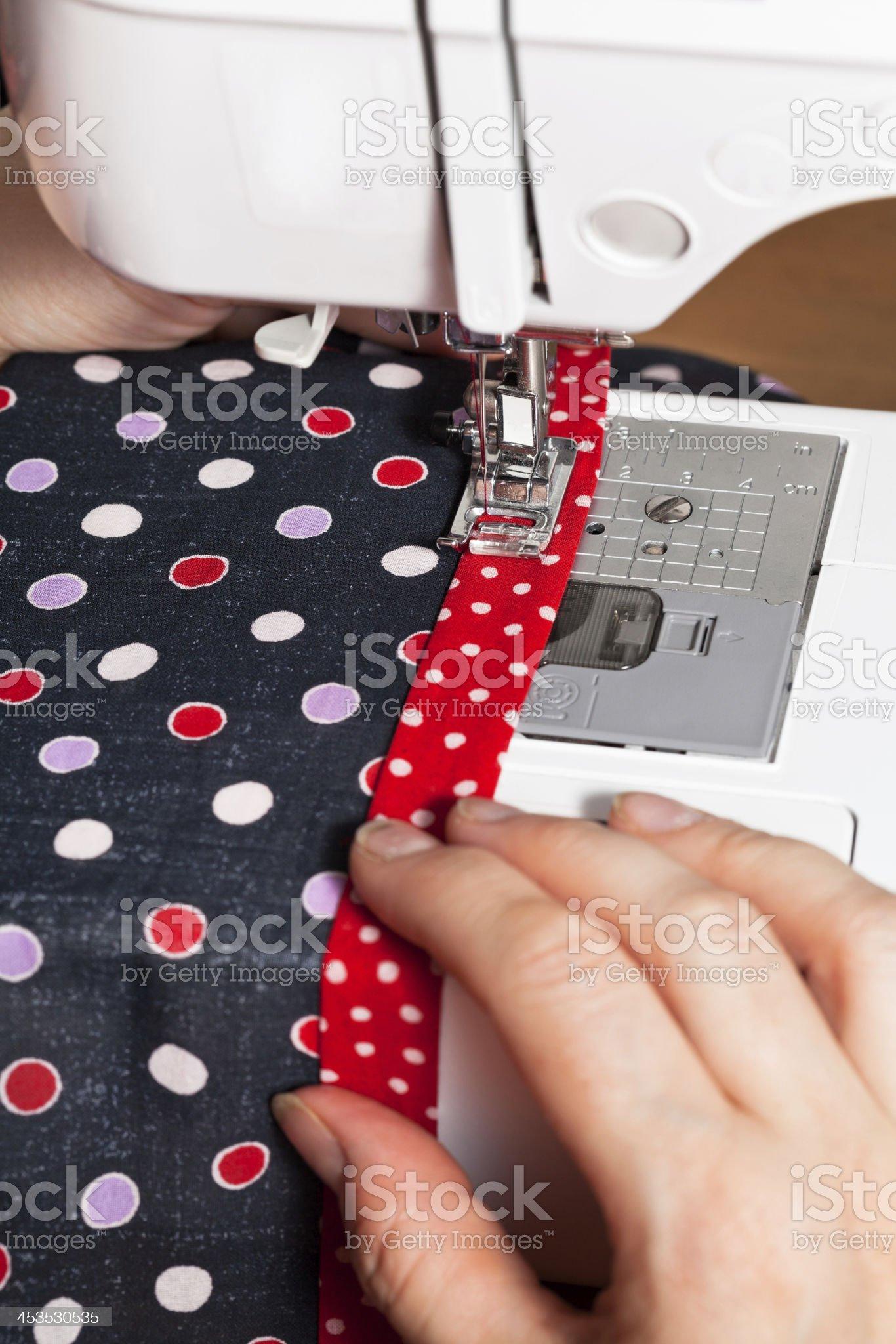 sewing dress on machine royalty-free stock photo