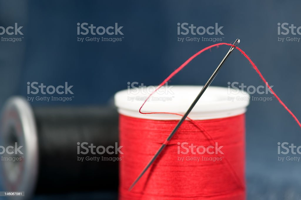 Sewing equipment royalty-free stock photo