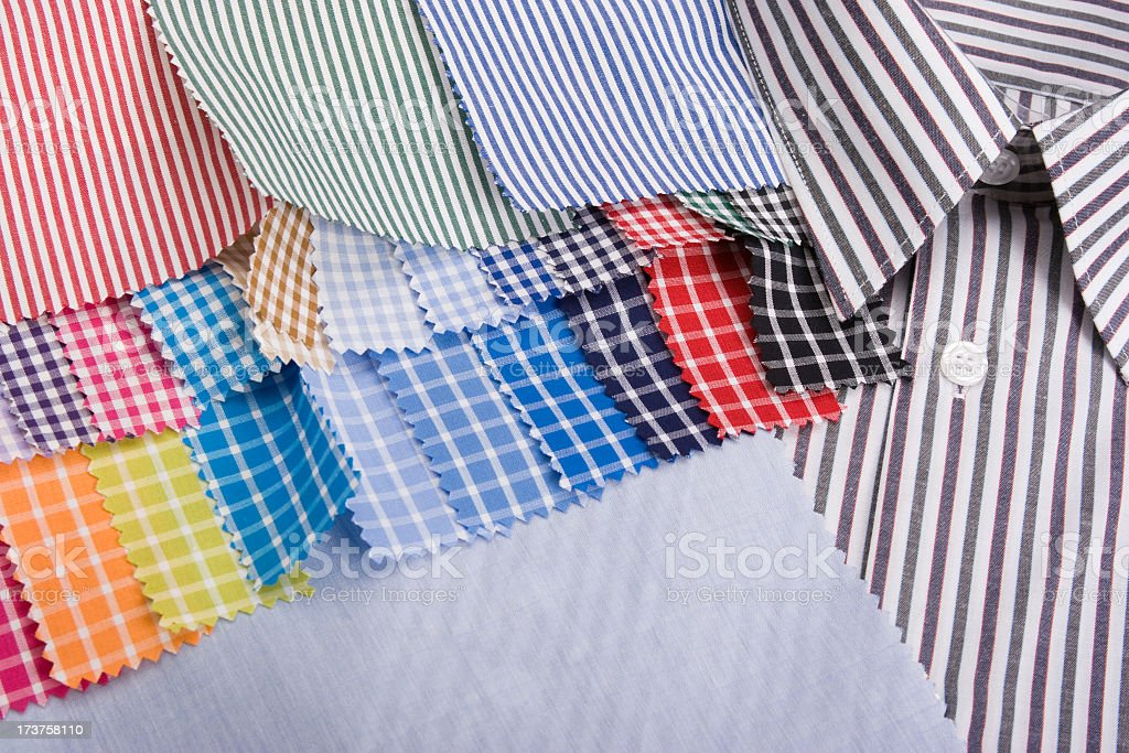 sewing fabrics royalty-free stock photo