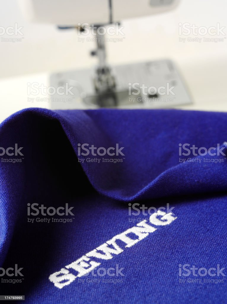 Sewing in a Word stock photo