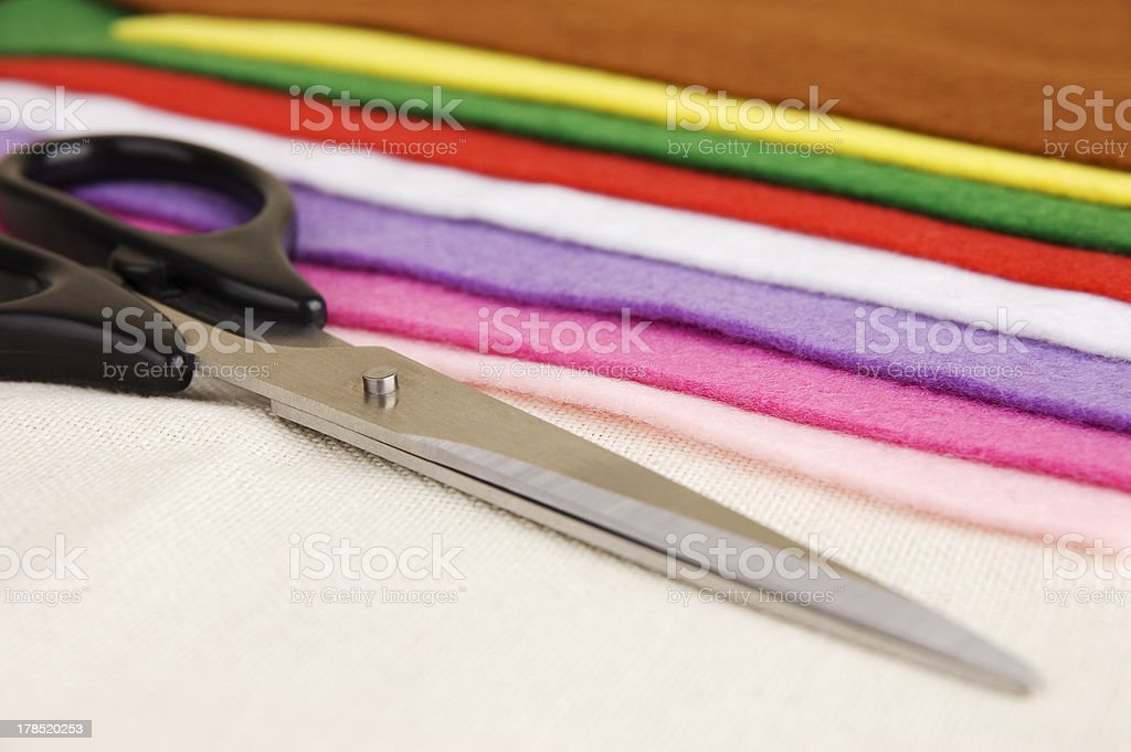Sewing items stock photo