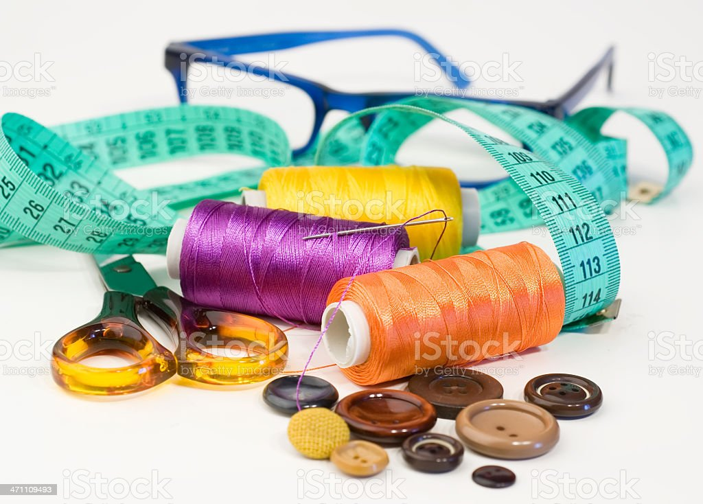 Sewing items royalty-free stock photo