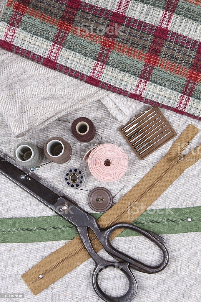 Sewing kit royalty-free stock photo