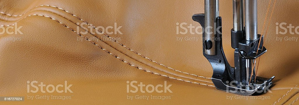 sewing line stock photo