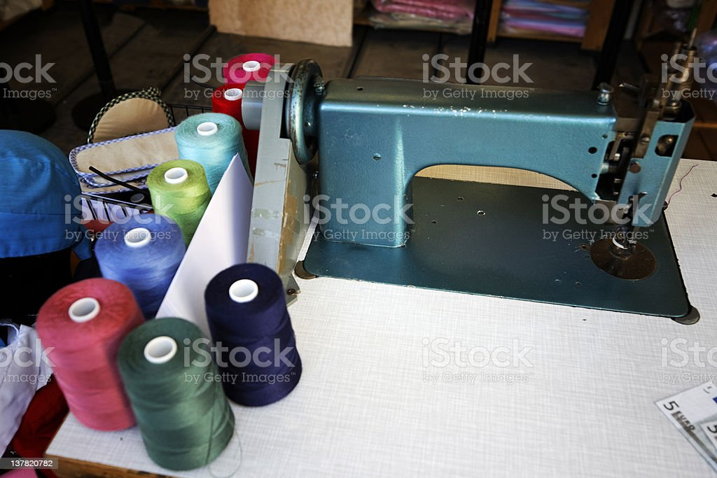 Sewing Machine. Color image stock photo