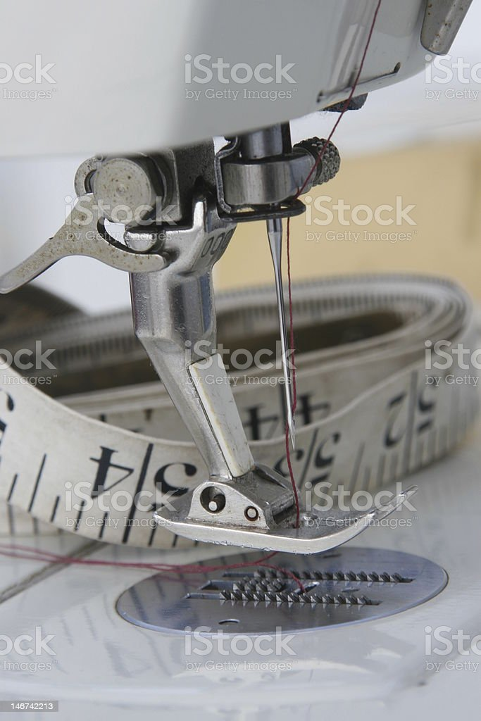 Sewing Machine Foot royalty-free stock photo