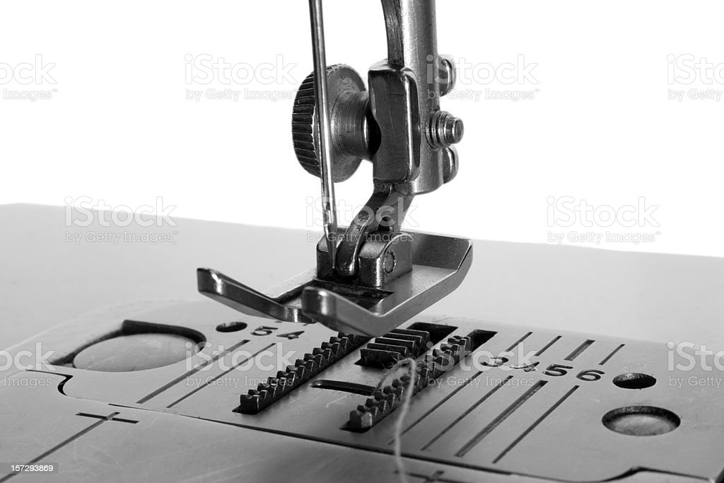 sewing machine monochrome royalty-free stock photo