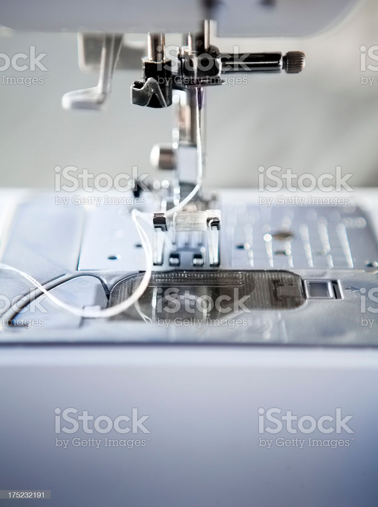 Sewing Machine Needle and Foot royalty-free stock photo
