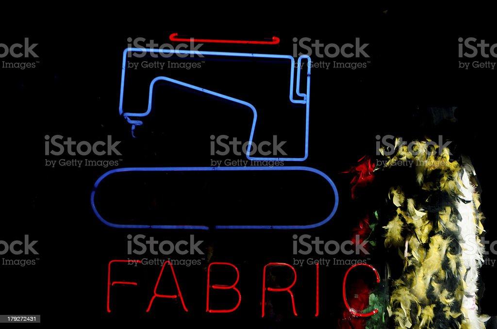 sewing machine neon royalty-free stock photo