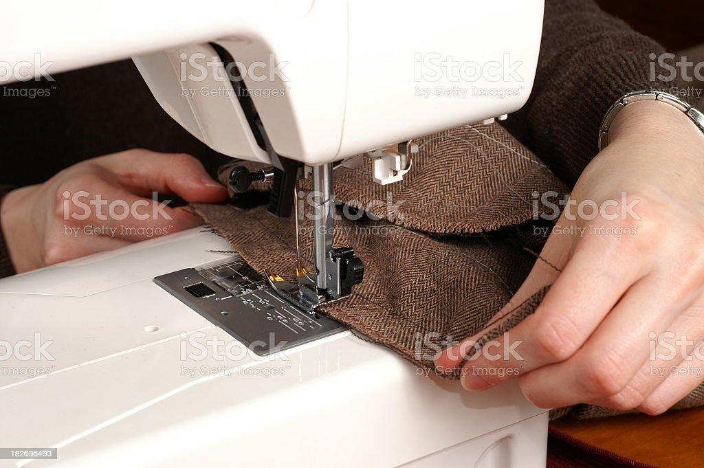Sewing Machine Operating stock photo
