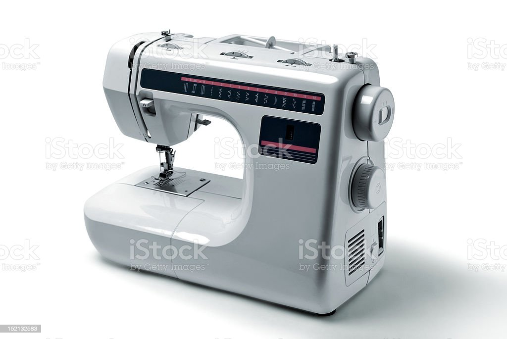 Sewing machine. stock photo