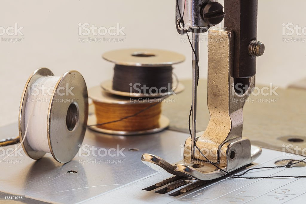Sewing machine. royalty-free stock photo