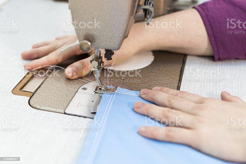 Sewing machine stock photo