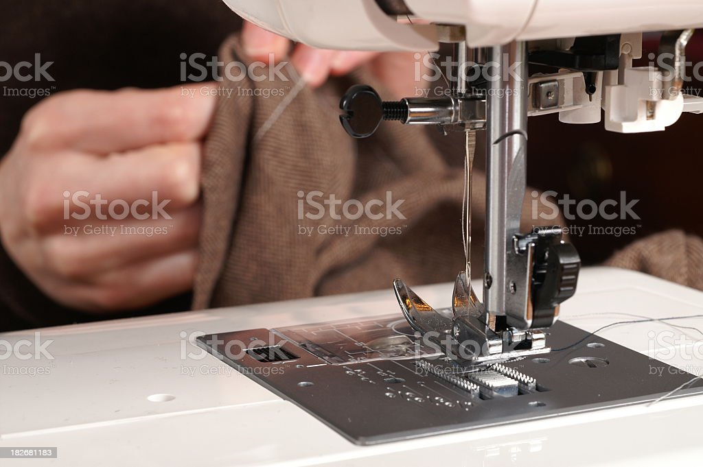 Sewing Machine Plate and Foot royalty-free stock photo