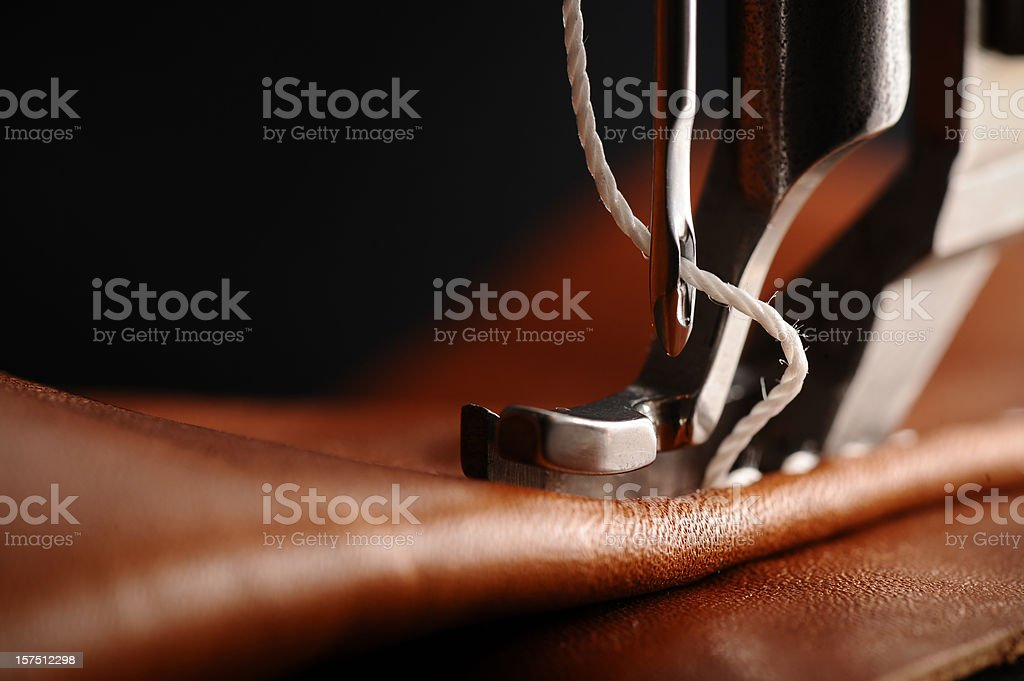 Sewing machine with needle stock photo