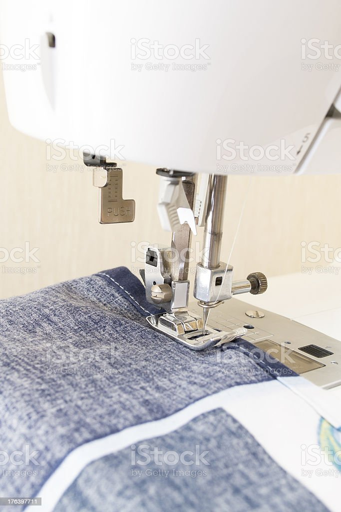 Sewing machine with needle royalty-free stock photo