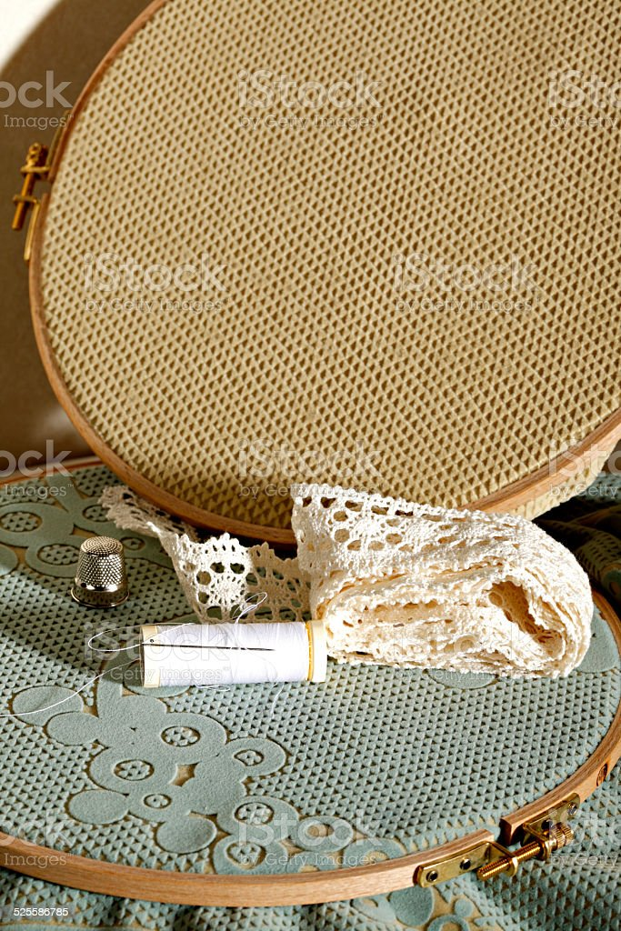 Sewing material stock photo