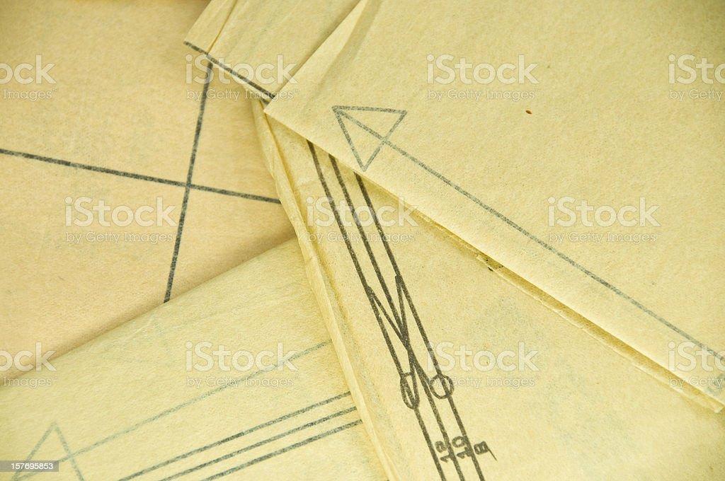 Sewing Pattern Background stock photo