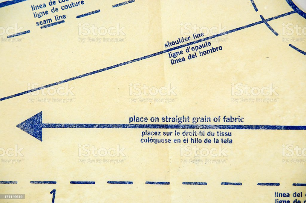 Sewing Pattern Background stock photo