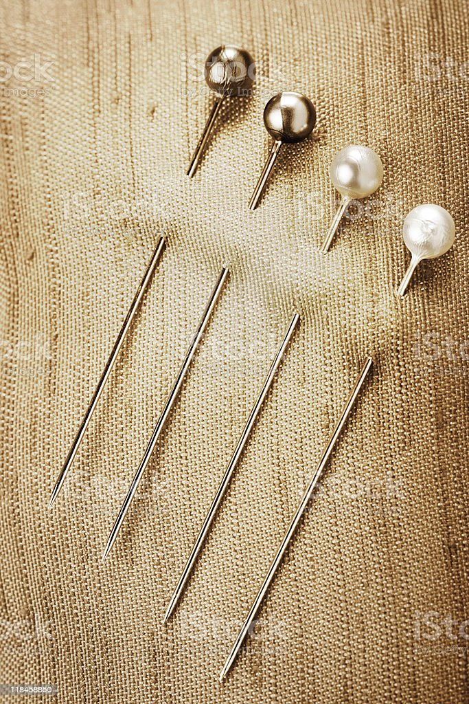 Sewing pins royalty-free stock photo