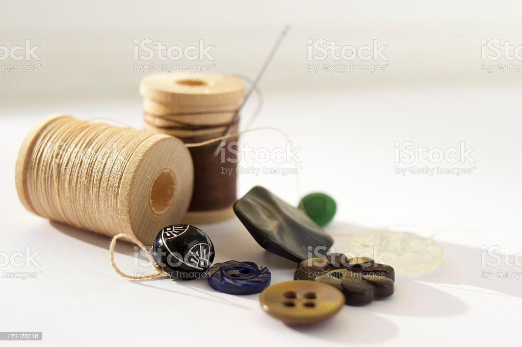 Sewing Still Life stock photo