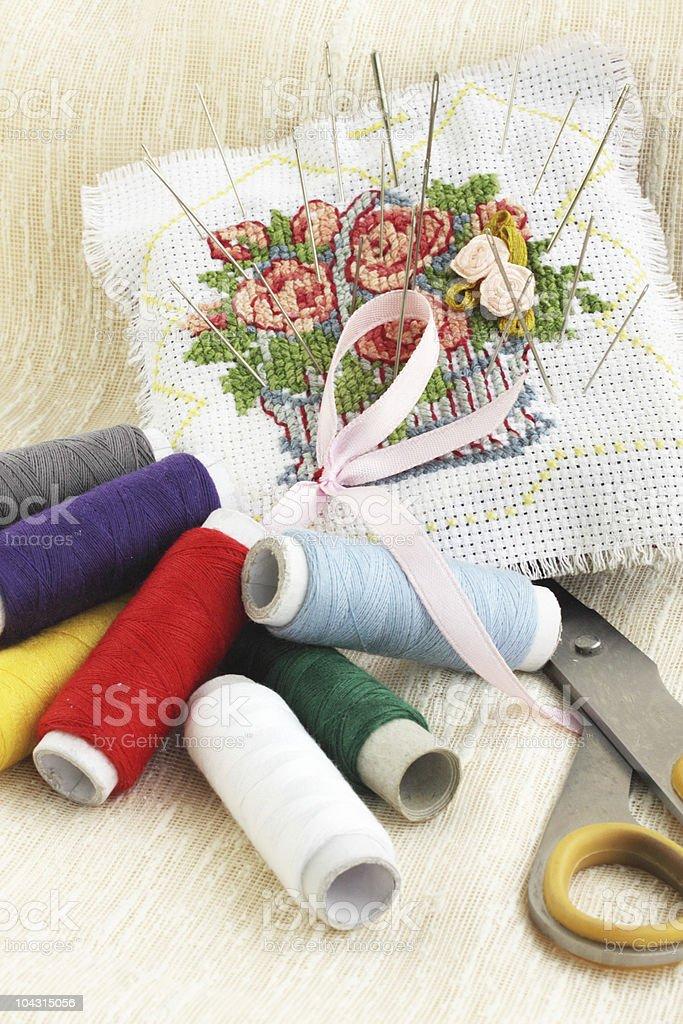sewing stuff royalty-free stock photo
