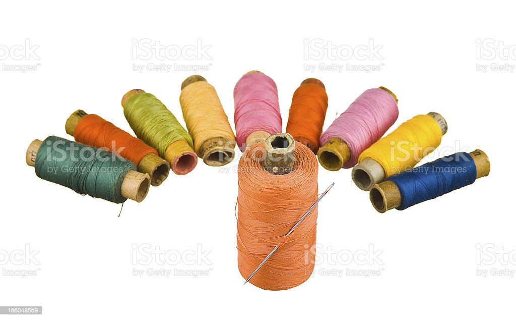 Sewing thread royalty-free stock photo