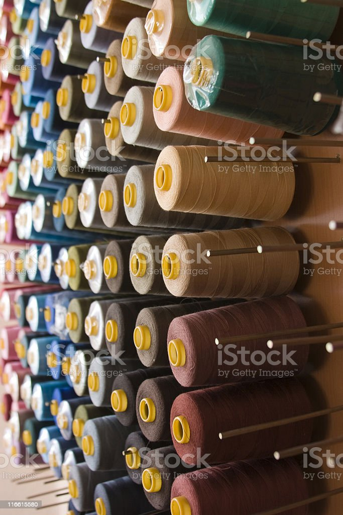 sewing threads collection royalty-free stock photo
