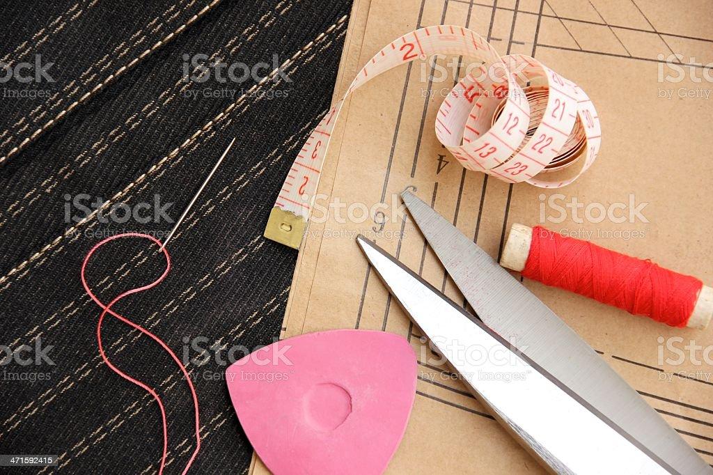 Sewing Tools royalty-free stock photo