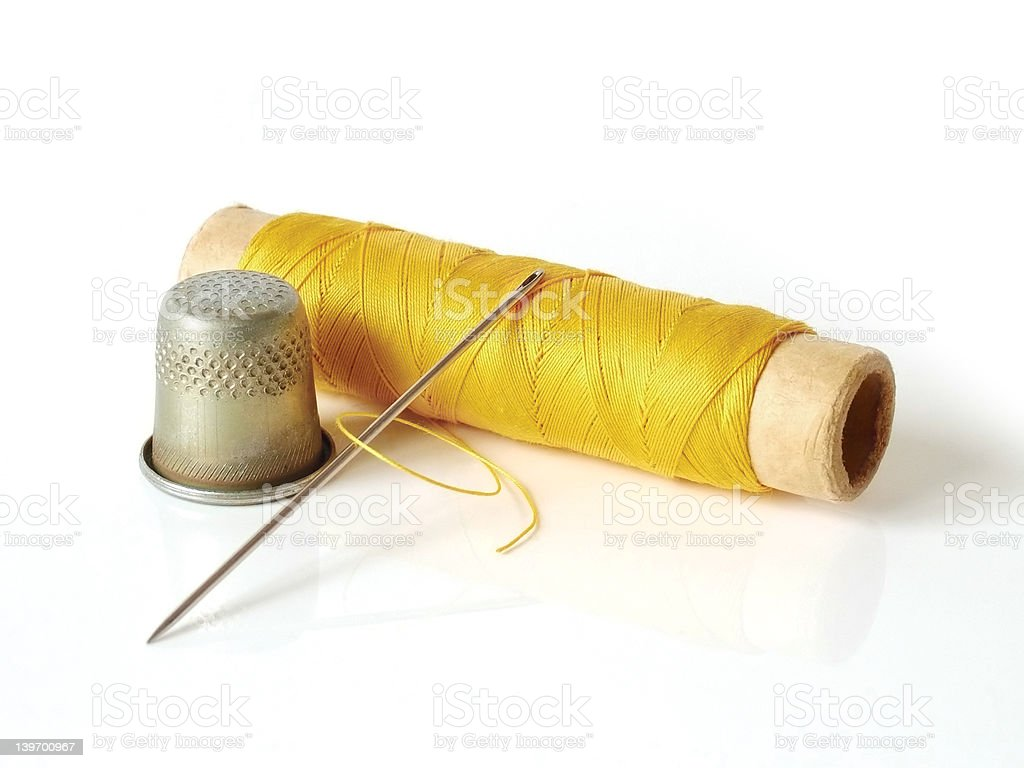 Sewing toolset royalty-free stock photo